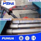Máquina de la limpieza de la ráfaga de tiro del transportador del balanceo para el tubo de acero