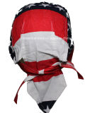 Il motociclista promozionale della protezione del cranio della bandiera americana del cotone stampato marchio su ordine ricopre Headwrap