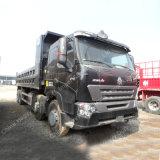 12 바퀴 HOWO A7 8X4 덤프 트럭 팁 주는 사람 50 톤