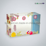 Transparente Pet Offset impresión de embalaje de plástico caja de cartón de regalo