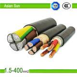 Cable eléctrico de baja tensión de 5 núcleos Cable eléctrico aislado de PVC de 0.6 / 1kv