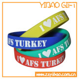 Wristbands coloridos do silicone para as atividades (YB-w-006)