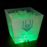 Position givrée rechargeable lumineuse par DEL du seau à glace grande Champagne 10L