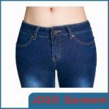 Pantalones vaqueros flacos de las mujeres oscuras de Bule (JC1050)