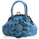 Flor grande con el bolso de la cremallera de la decoración lateral