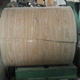 木カラーはRooingのタイルのための鋼鉄コイルそしてカラーによって塗られた鋼鉄コイルに電流を通した