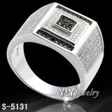 Silver esterlino Micro Pave Men Ring (S-4579/81/83/98BW, 4606BW, 5131)