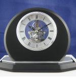 Horloge de bureau de quartz de cadeau de bureau, horloge squelettique de bureau de quartz