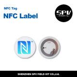 Etiqueta engomada anti de papel Ntag215 RFID del metal del Hf de NFC 13.56MHz