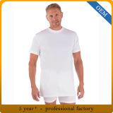 人の95%のタケ5%のスパンデックスの偶然の常連の適当で白いTシャツ