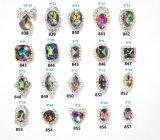 Decoração metálica da arte do prego do Rhinestone 3D da liga do metal de cristal colorido das etiquetas