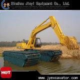 Amphibious Pontoon Jyae-49를 가진 땅과 Water Dredging Excavator