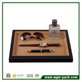 High Quality PU Leather/Wooden Black Jewelry Display Tray