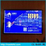 CE aprobado publicidad de la exhibición de LED Caja ligera delgada