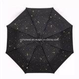 Зонтик звезды изготовленный на заказ вполне конструкции печати внутренности автоматический для промотирования