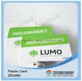 Carte d'identification de PVC de plastique/carte de visite professionnelle de visite transparente