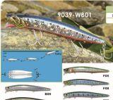 attrait dur de flottement de pêche de fiche de Wobbler de 128mm