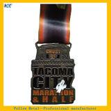 柔らかいエナメルの骨董品の銀メダルのマラソンメダルスポーツメダルHxm-5