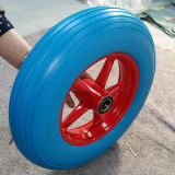 4.00-8 유럽 기준 단단한 편평한 자유로운 PU 거품 바퀴