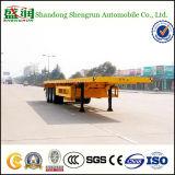 40FT Aanhangwagen van de Vrachtwagen van de Container van de Aanhangwagen van het Nut van de tri-as Flatbed Semi