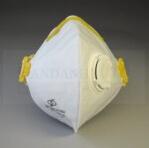 新しい縦のフォールド様式の白い通気性の塵マスクEn149 Ffp2