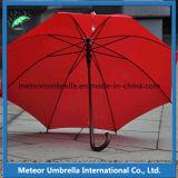 Зонтик гольфа цветастого автомобиля вала подарка промотирования ткани прямого деревянного открытый