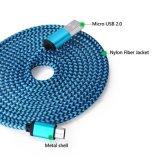 Câble micro tressé en nylon de chargeur de caractéristiques de 5pin USB pour Samsung