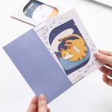 Tarjeta de papel modificada para requisitos particulares alta calidad promocional del regalo, impresión de la tarjeta de felicitación