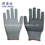 7 Anzeigeinstrument-Chlorid-Baumwolle gestrickte Sicherheits-Handschuhe mit Belüftung-Punkten