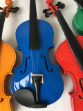 Violino 4/4 no caso do violino com resina do violino da curva de violino