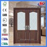 Дверь белой низкой цены праймера деревянная стеклянная (JHK-G04)
