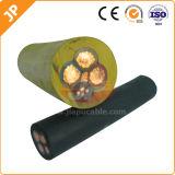 Гибкий кабель низкого напряжения тока обшитый резиной