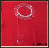 Câmara de ar de vidro personalizada transparente de quartzo com a flange por o desenho