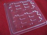 Placa de cristal modificada para requisitos particulares de cuarzo transparente con el surco