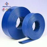 Голубой гибкий пожарный рукав PVC Layflat