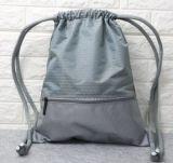 Sac à dos ordinaire de sac de cordon de polyester pour la promotion avec la tirette