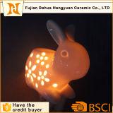 ウサギの整形陶磁器の香Burnner及び夜ライト