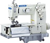 Wd-2000c Double Needle Flat Bed Belt Loop mit Front Fabric Cutter