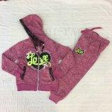 スクエア6665子供の衣服の女の子の子供のスポーツのスーツ