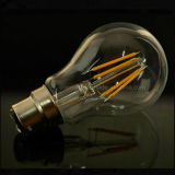 Luz de lâmpada LED Filament 4W 6W 8W Lâmpada B22 E27 A60 Lâmpada LED de Filamento