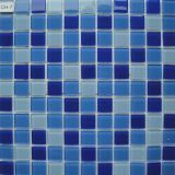 Brown ha mescolato le mattonelle di mosaico di vetro per la decorazione del pavimento e della parete