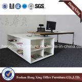 Vector de madera de la oficina de encargado de la pierna del metal (6M003)