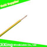Câble de fil électrique isolé par PVC de cuivre plein à un noyau de conducteur de H07V-U