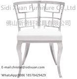 Moder geometrischer weißer Leatherette, der Stuhl für Wohnzimmer-Möbel speist