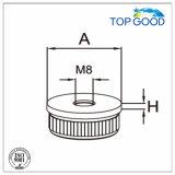 Embout solide plat en acier inoxydable avec filetage M8