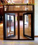 Ventana buena calidad desde la ventana de empresas de fabricación, americano y australiano de madera del estilo de aluminio de ventana de bisagras