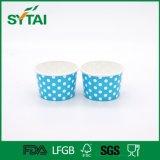Tazze di carta stampate PUNTINO variopinto a gettare del gelato di alta qualità