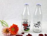 bouteille d'eau de bouteille à lait de 250ml 500ml 1L/bouteille en verre de boisson