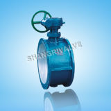 Worm Gear Soft Sealed Flange Butterfly Valve (D341X)
