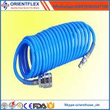 Buen manguito flexible de la bobina de la PU de la alta calidad con las guarniciones